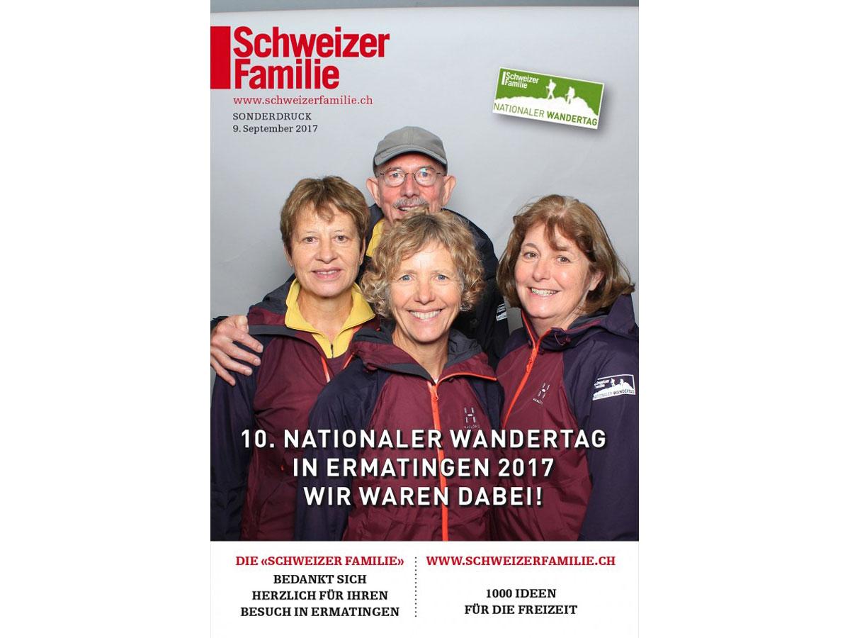 Am Stand der Schweizer Familie konnten sich die Wanderer ausruhen und in der Fotobox posieren.