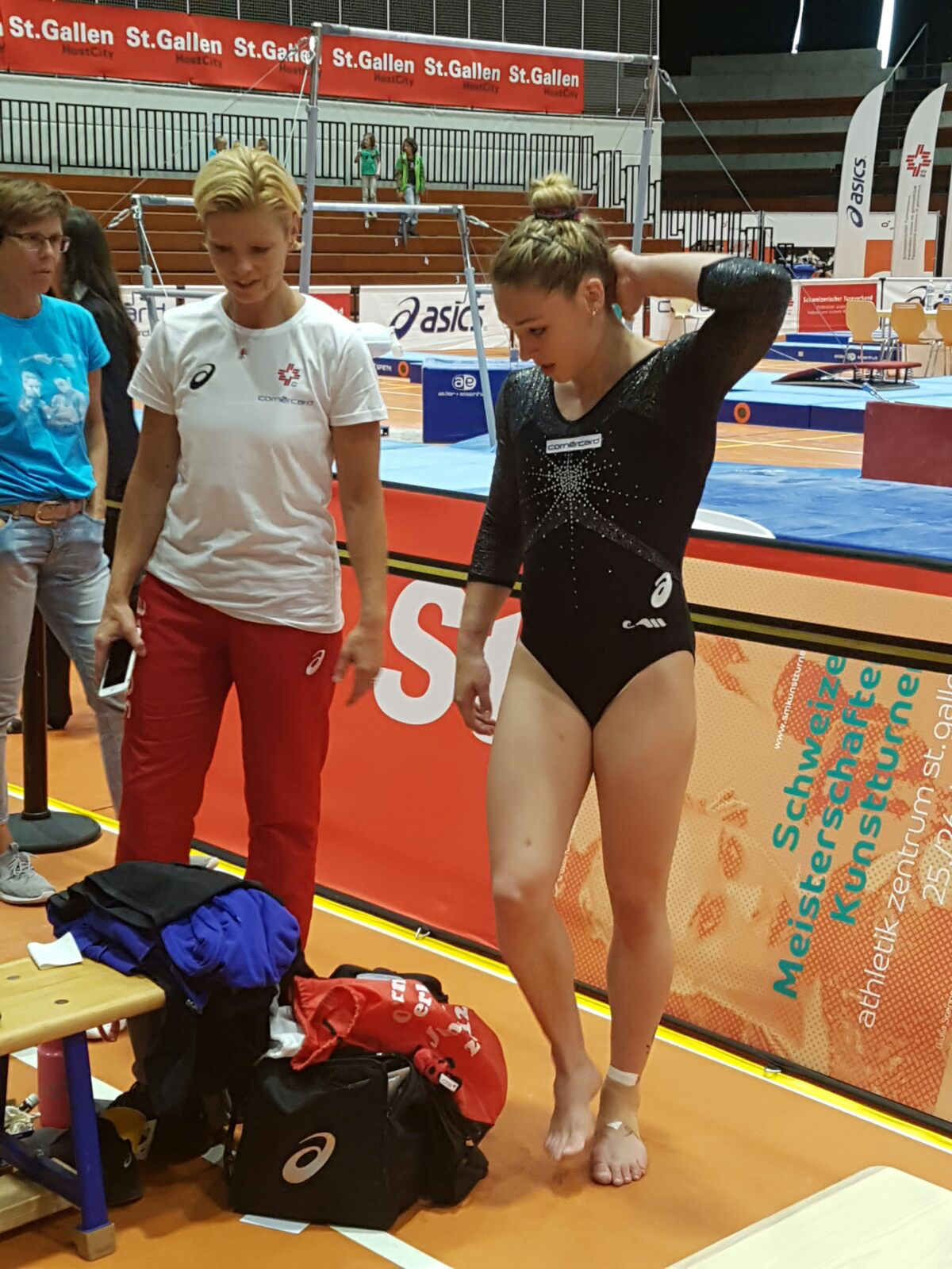 Giulia an den Schweizer Meisterschaften in St. Gallen