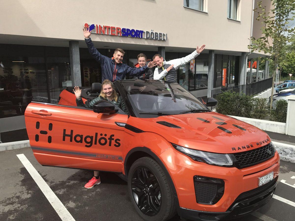 Team Döbeli Sport mit dem Range Rover Evoque by Haglöfs