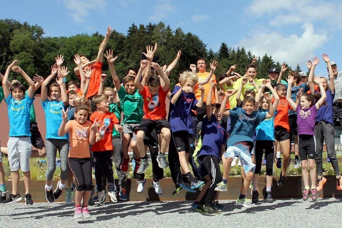 Zahlreiche Kinder trainieren regelmässig mit viel Freude in der Target Freerunning School