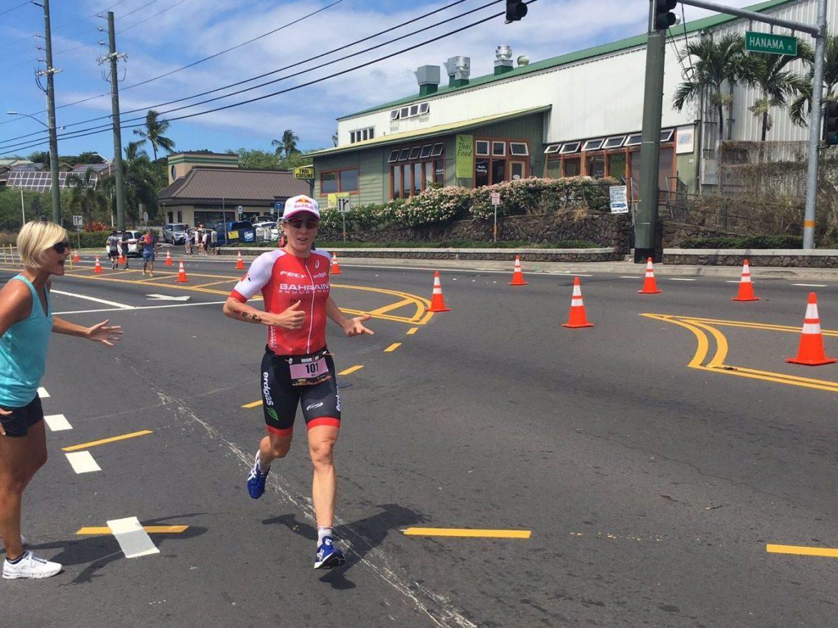 4 Kilometer vor Schluss erfährt Daniela, dass sie einen neuen Streckenrekord aufstellen kann