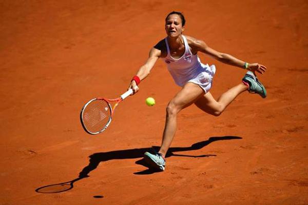 Viktorija Golubic kämpfte um jeden Ball